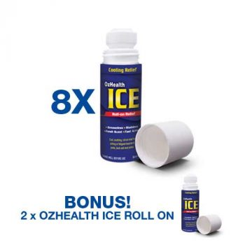 8 pieces ICE Roll-On