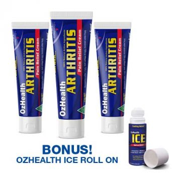 3 Pieces Arthritis Cream and ICE Roll-On